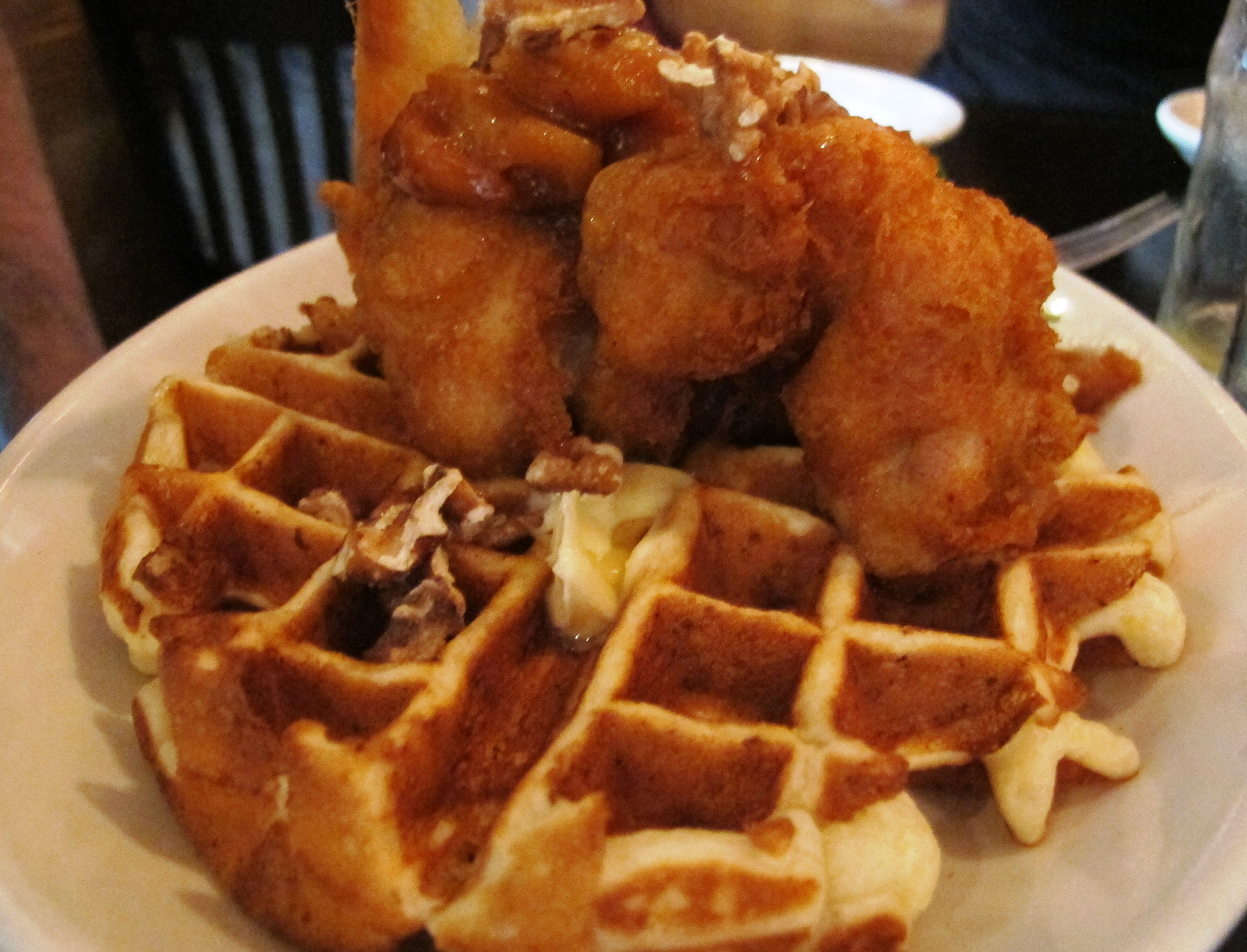 Beer-Batter Chicken And Waffles Recipe — Dishmaps