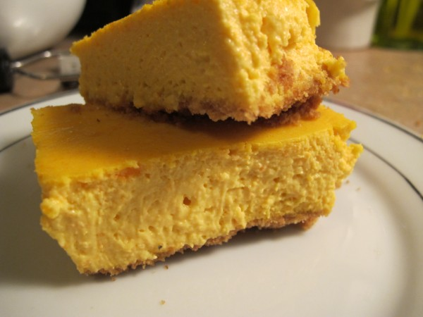 Food: Sweet Potato and Orange Cheesecake Bars | The Best Thing Since ...